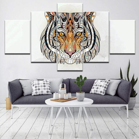Tableau Tigre Animal Totem