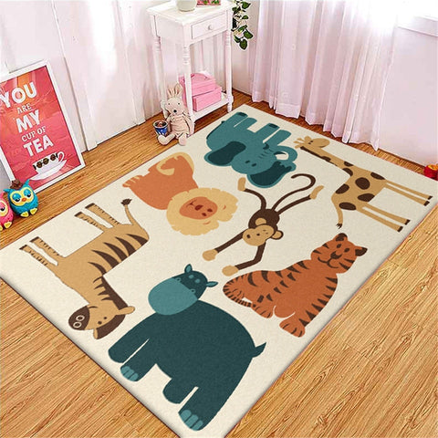 Tapis Animaux de la Jungle