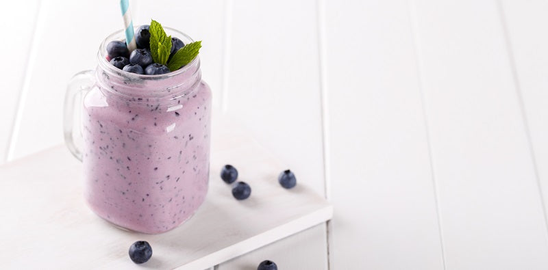 skin boosting blueberry smoothie