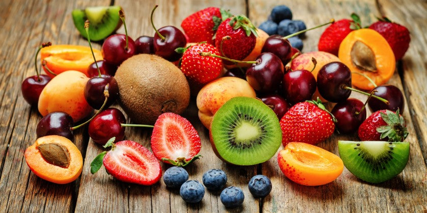 various fruits filled with essential nutrients