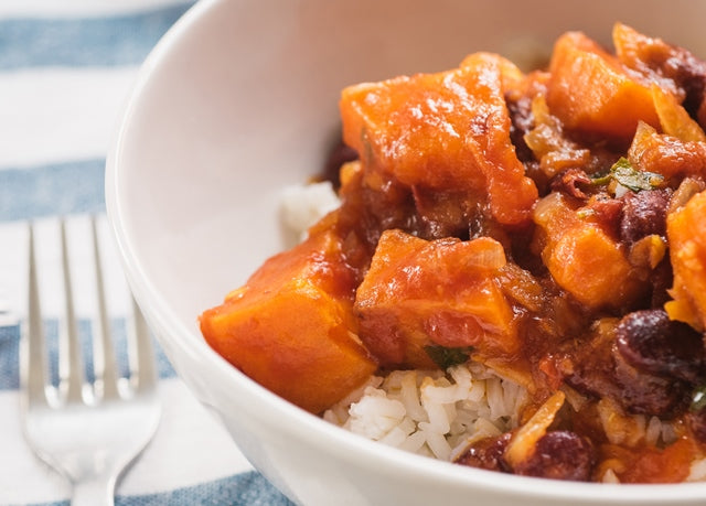 sweet potato stew with rice