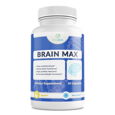 Brain Max memory improvement mental focus mind boost tress relief