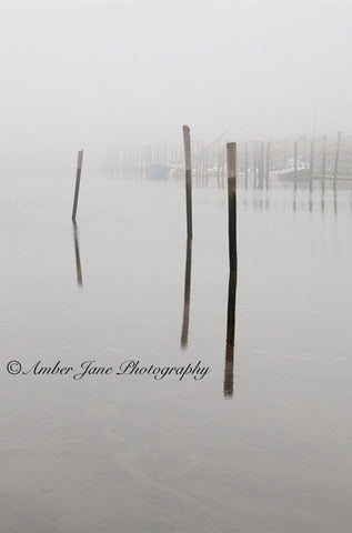 Foggy Wellfleet Harbor