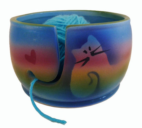 Kitty Cat Yarn Bowl-SOLD OUT