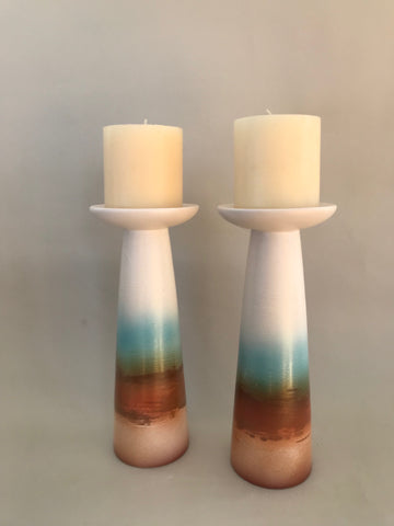 Sunrise Pillar Candle Holders