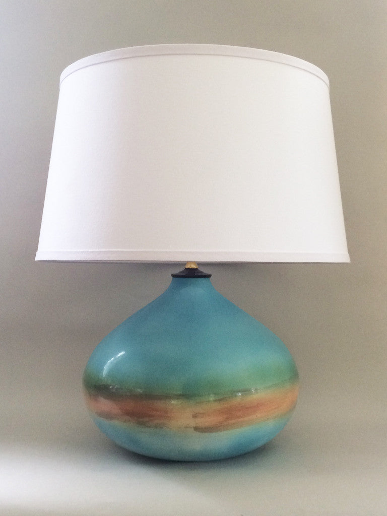 BEACH HOUSE LAMP - WHITE LINEN SHADE