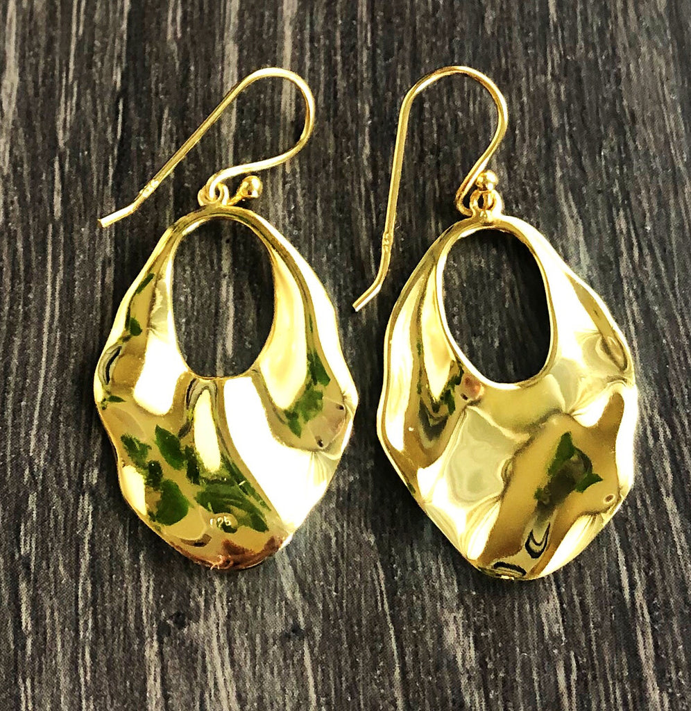 GOLD VERMEIL WAVE EARRINGS