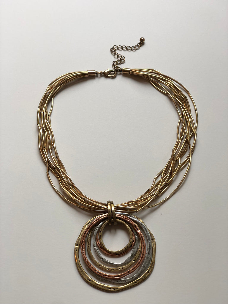 TRICOLOR SUNLIGHT GODDESS NECKLACE