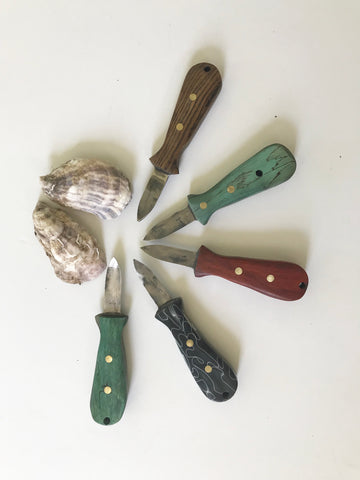HANDCRAFTED OYSTER KNIFE (PER EACH KNIFE - pick your color in notes)