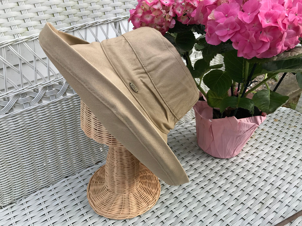 TAN CANVAS WOMEN'S HAT