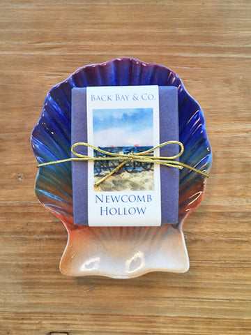 Sunset Soap Dish and Back Bay & Co Newcomb Hollow Soap-SOLD OUT