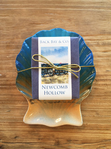 Sunrise Soap Dish and Back Bay & Co Newcomb Hollow Soap