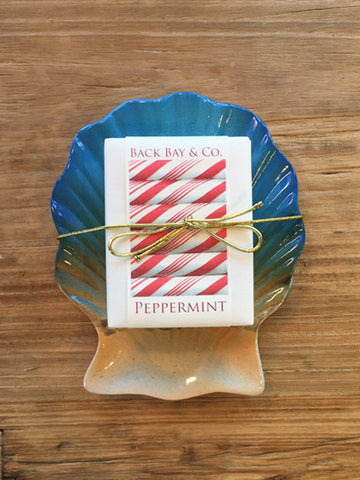 Sunrise Soap Dish and Back Bay & Co Peppermint Soap-SOLD OUT