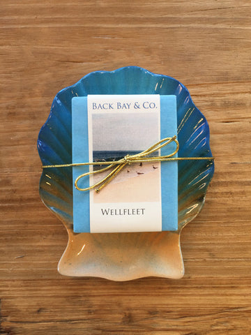Sunrise Soap Dish and Back Bay & Co Wellfleet Soap