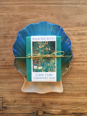 Sunrise Soap Dish and Back Bay Gardener's Soap - SOLD OUT