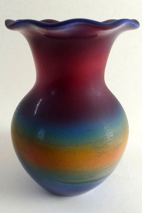 Horn Vase Fluted: Red  SOLD OUT