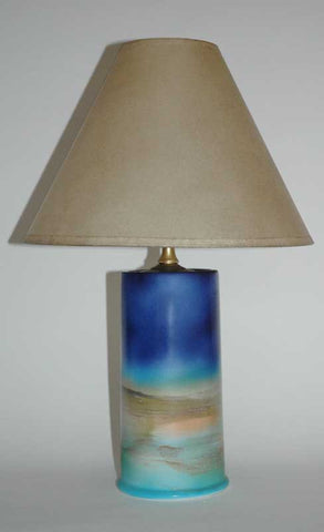 BLUE LIGHTHOUSE LAMP