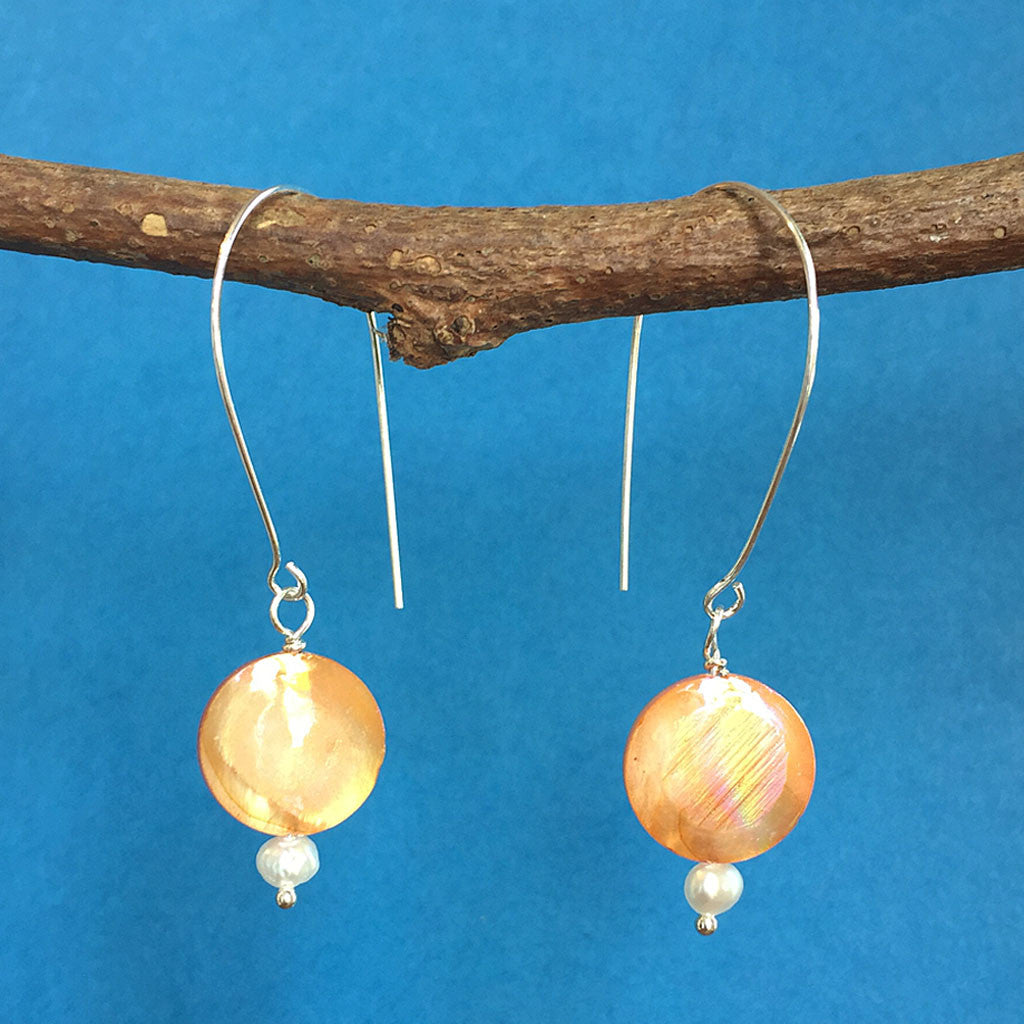 HARVEST MOON PEARL EARRINGS