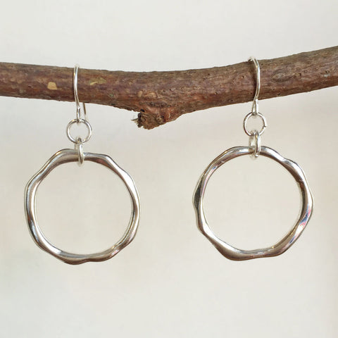 OCEAN WAVES HOOP EARRINGS