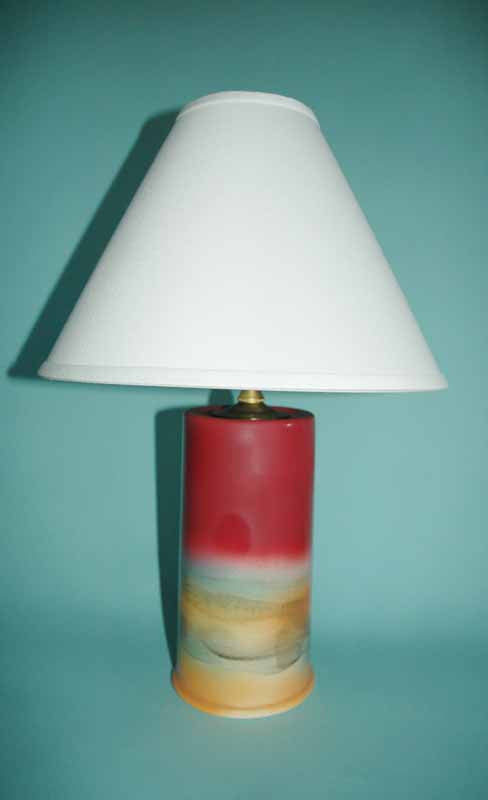 RED LIGHTHOUSE LAMP