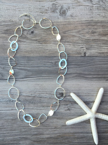 SPARKLING LONG LINK NECKLACE