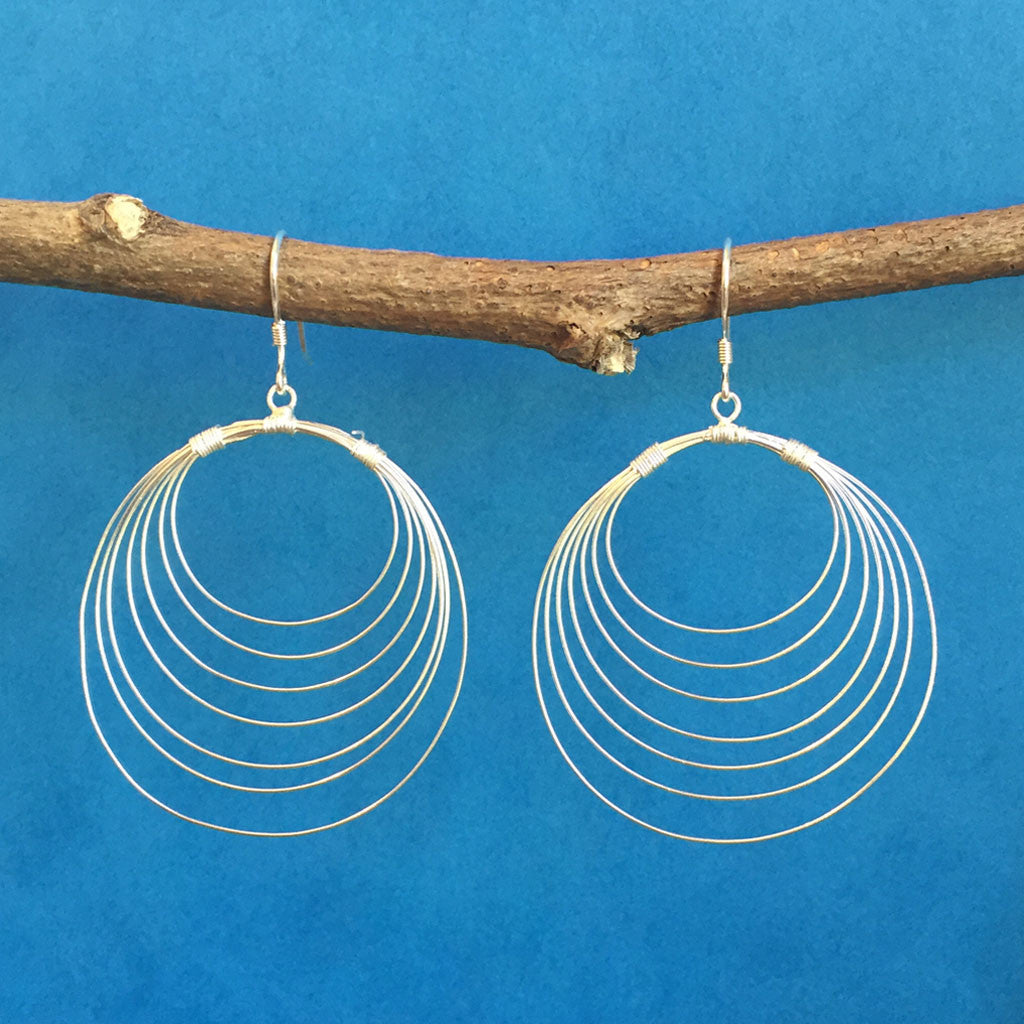 STERLING SILVER ORBIT EARRINGS - NEW!