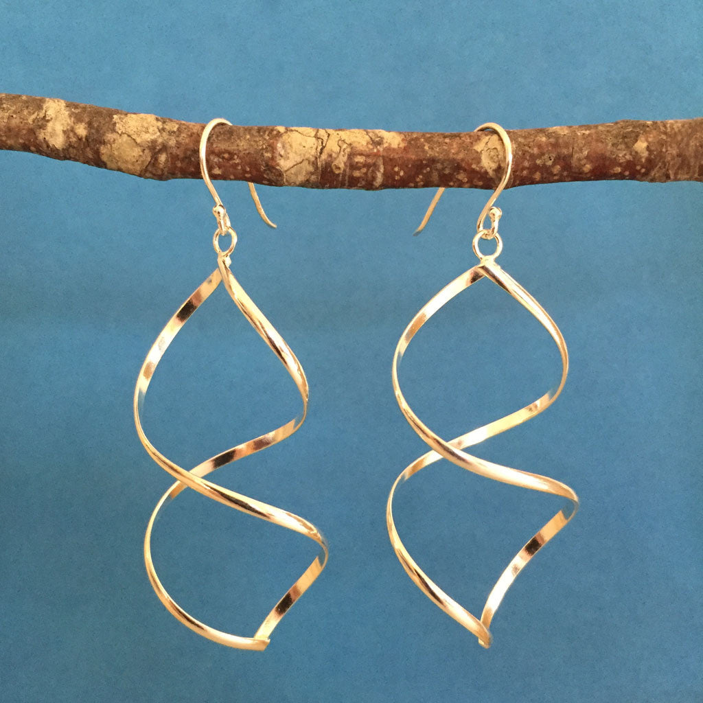 STERLING SILVER TWIST EARRINGS - NEW!