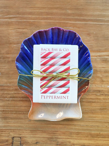 Sunset Soap Dish and Back Bay & Co Peppermint Soap-SOLD OUT