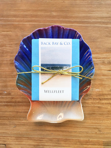 Sunset Soap Dish and Back Bay & Co Wellfleet Soap