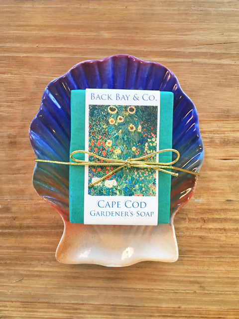 Sunset Soap Dish and Back Bay & Co Gardener's Soap - SOLD OUT