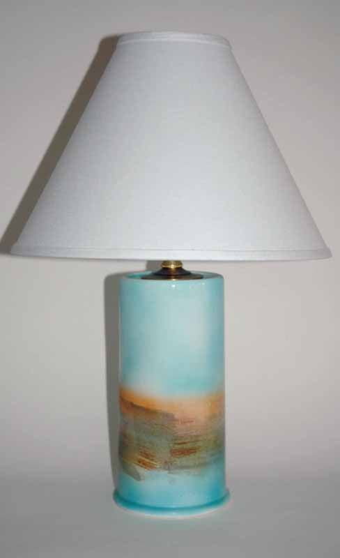 TURQUOISE LIGHTHOUSE LAMP