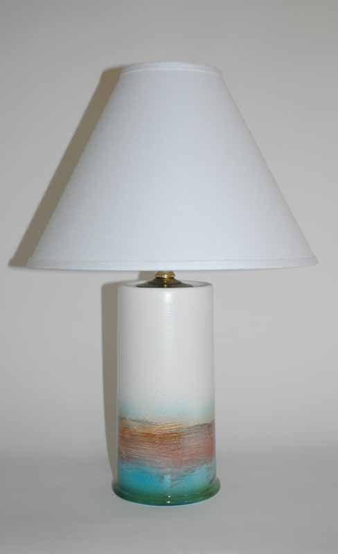 WHITE LIGHTHOUSE LAMP