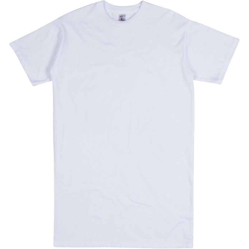 Have It Tall Men's Extra Long Soft Blend T Shirt