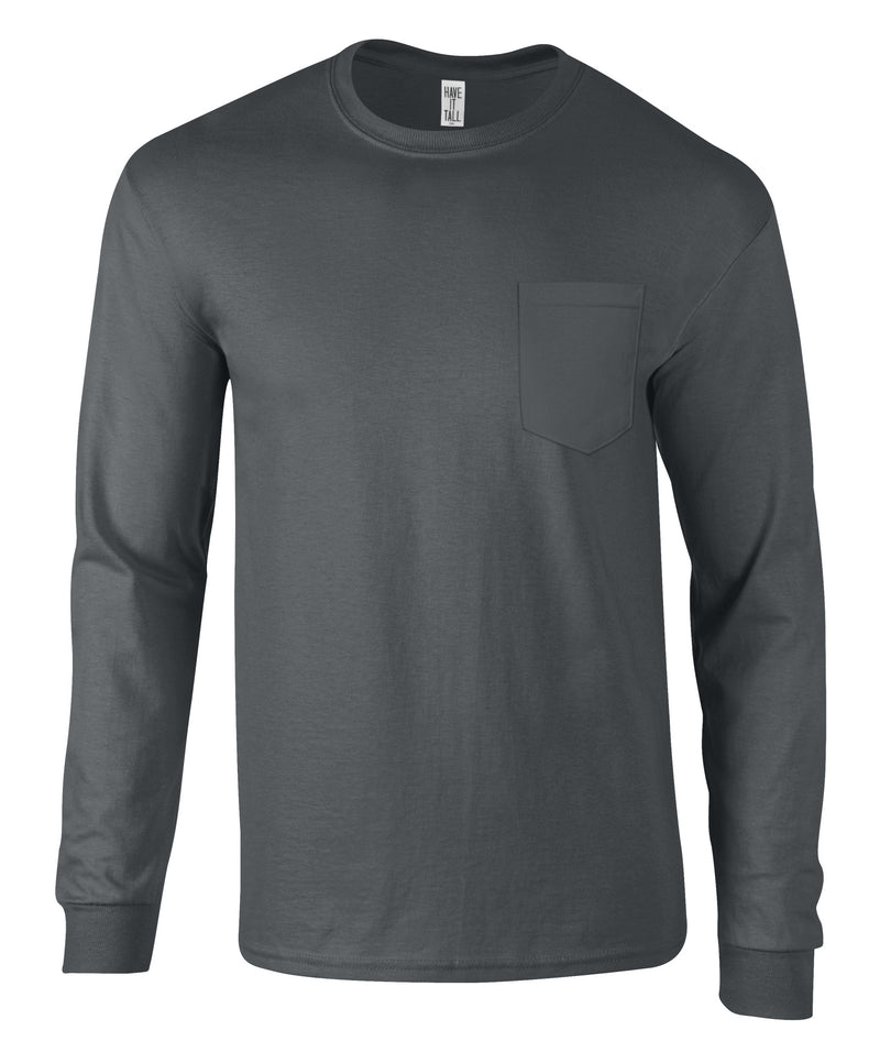 Have It Tall Men's Long Sleeve T Shirt With Pocket