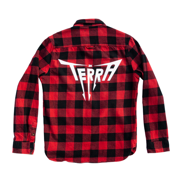 2/10 Red Upcycled Flannel (S)