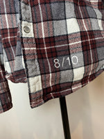 8/10 Red Upcycled Flannel (M)