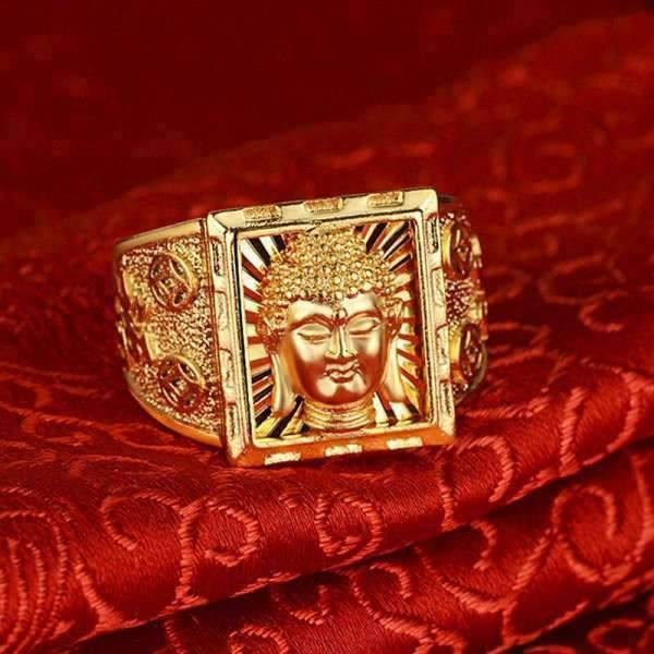 Bague Or Visage du Bouddha