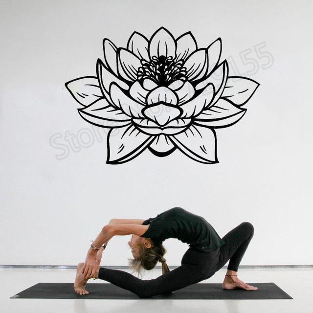 Stickers Bouddha Lotus Noir