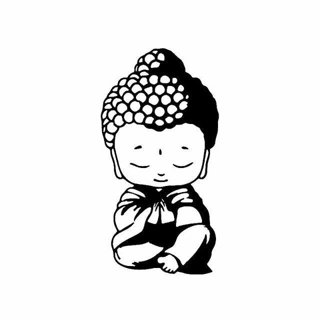 Sticker Bouddha Chibi