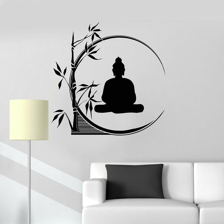 Sticker Bouddha Bambou