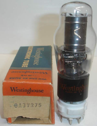 0A3 Westinghouse NOS 1940's - 1950's small crack in base (single)