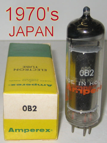 0B2 Japan NOS rebranded Amperex Globe Logo Holland 1970's (4 in stock)