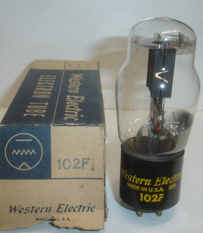 102F Western Electric tests like new 1952 (1.1ma and Gm=700) (High Ma and Gm)