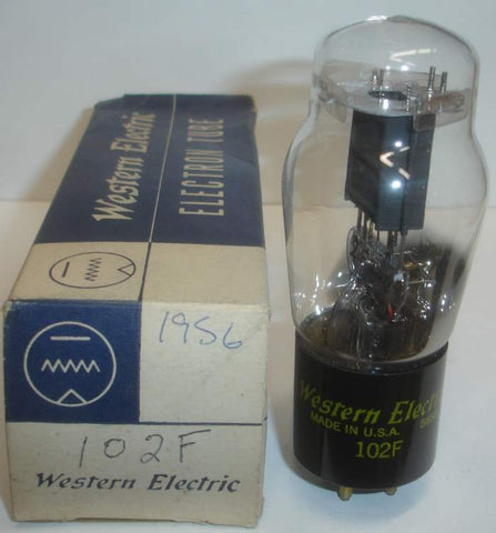 102F Western Electric ST-14 NOS 1956 slightly tilted glass (0.8ma Gm=600)
