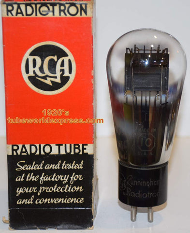 (!!!!!) (~ BEST SOUND ~) 10 RCA Cunningham Balloon engraved base NOS 1920's tube was factory sealed before removed for testing (25ma Gm=1900) (FREE SHIPPING)