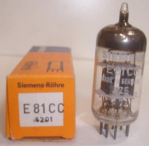 (!) E81CC=12AT7 Siemens double mica NOS 1975 (11.6/13.6ma) (strong Ma and Gm)