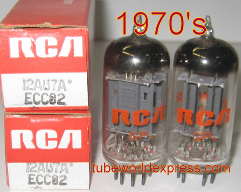 (!!) (#1 12AU7 Value Pair) 12AU7A RCA MEXICO NOS