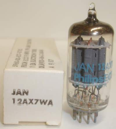 (!!) (Recommended Single) 12AX7WA Philips JAN by Sylvania NOS 1986 (Gm=1700/1900)