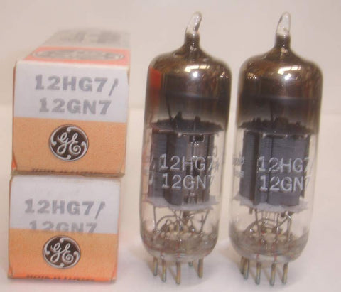 (!) 12HG7=12GN7A GE USA NOS (62ma and 66ma)