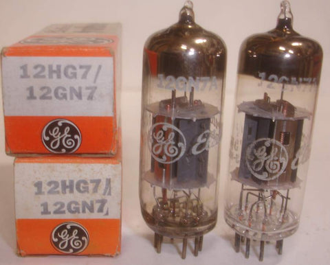 12HG7=12GN7A GE Japan NOS (1 pair in stock)